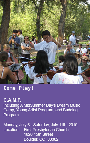 Keynes Conducts at Midsummer Days Dream String Camp